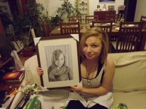 Csodálatos ajándék volt az apukám által rajzolt kép rólam :)