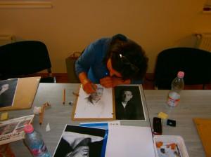 Rajzolás közben